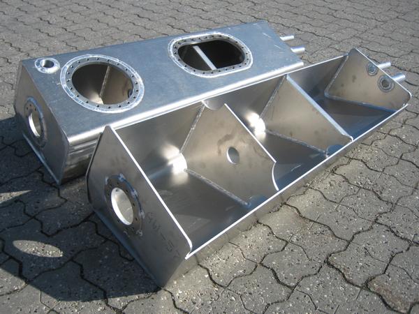 Aluminiumstanke fremstilling i aluminium og rustfrit stål 2