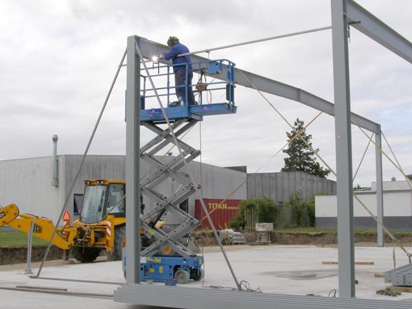 Bygningsstål - Montage af spær