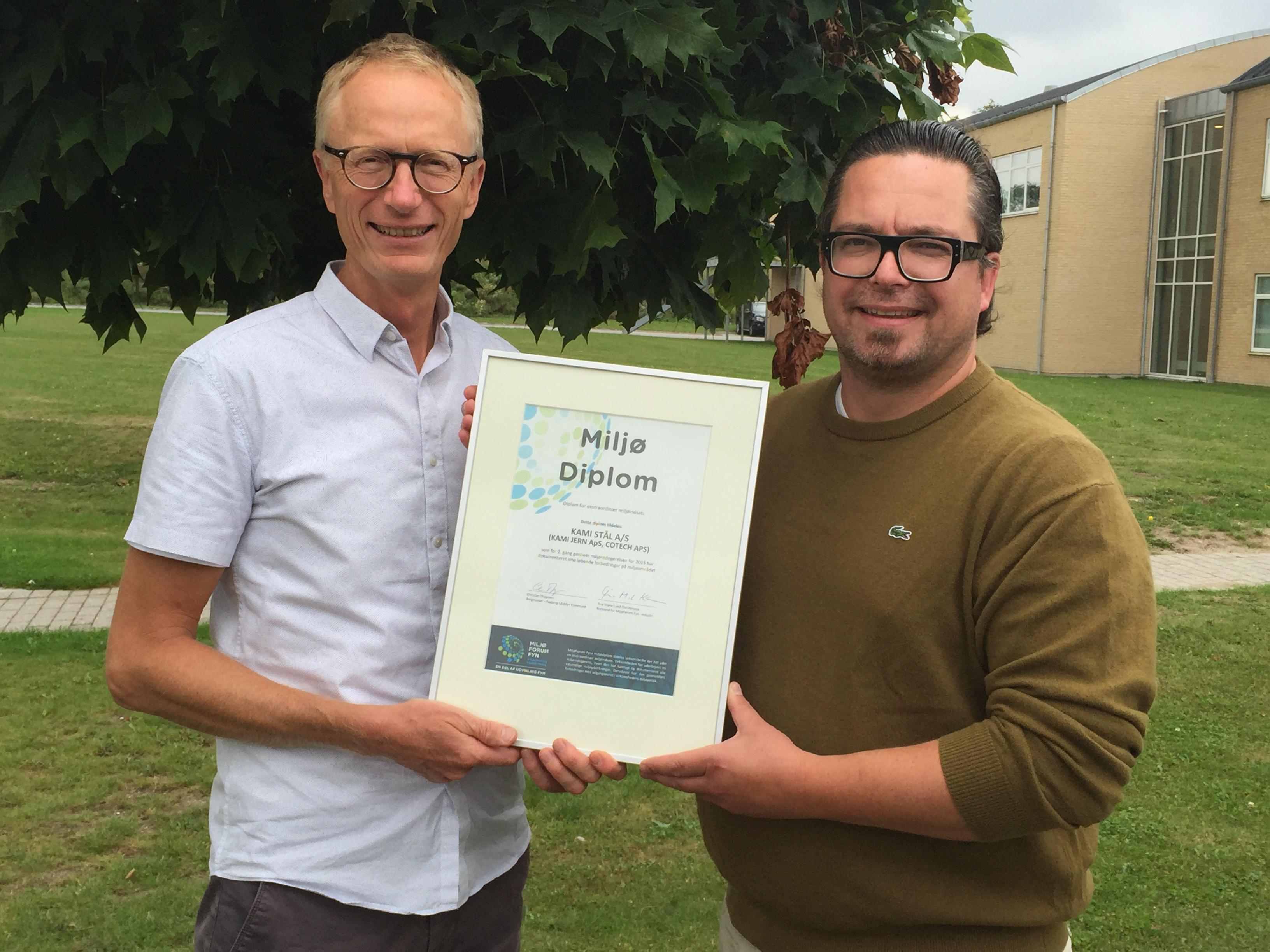 Miljø Diplom 2016 - KAMI og Cotech
