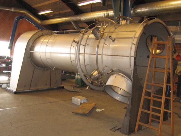 Rustfrit emne til køling af gas
