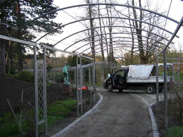 Espalier og pergola i Botanisk Have