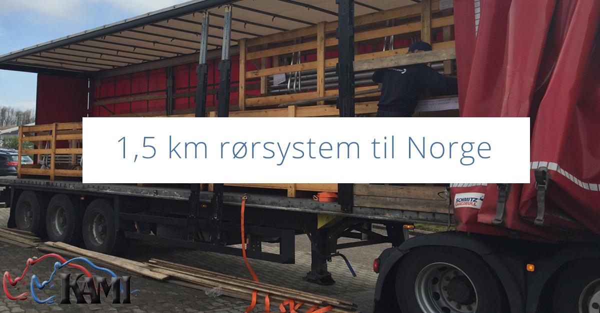 1,5 km rørsystem til Norge