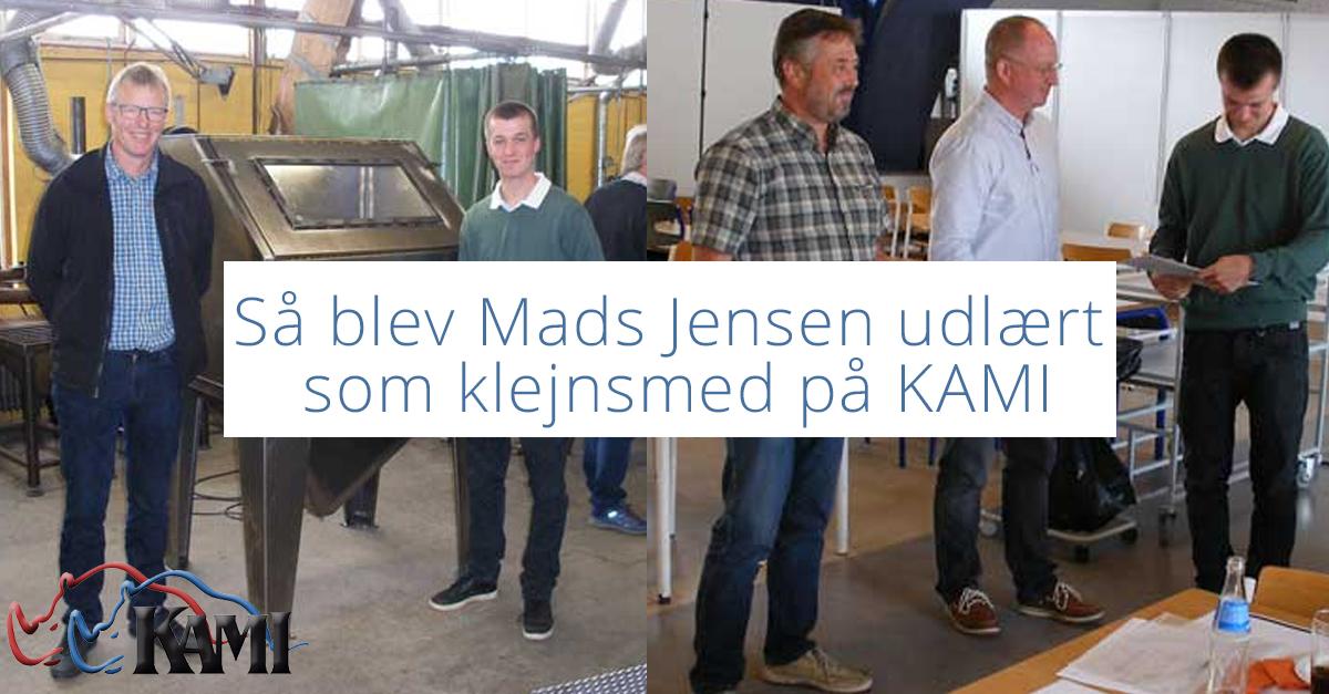 Så blev Mads Jensen udlært som klejnsmed på KAMI