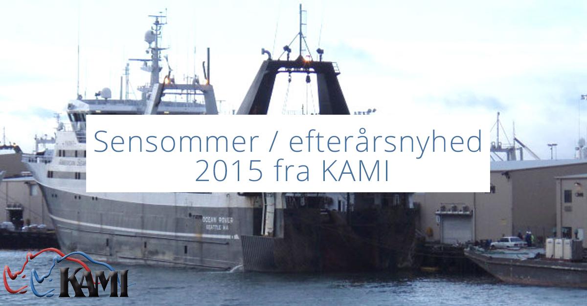 Sensommer / efterårsnyhed 2015 fra KAMI