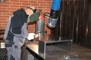 Opsvejsning af emne i aluminium