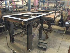 Platform - svejst og prøvemonteret