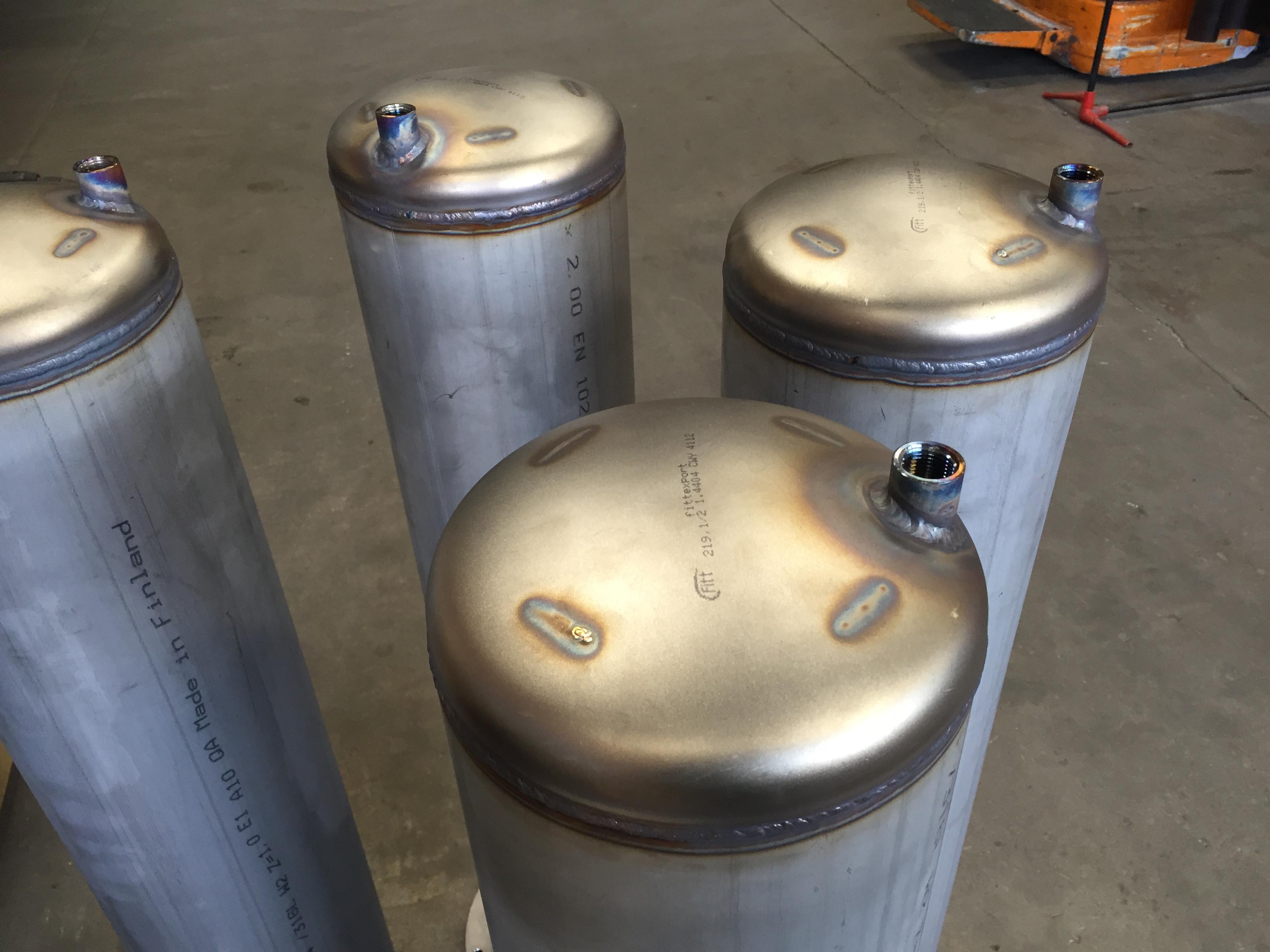 Rustfri filterhuse
