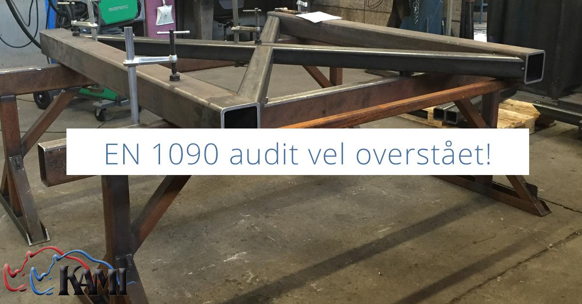 EN 1090 audit vel overstået! - kami