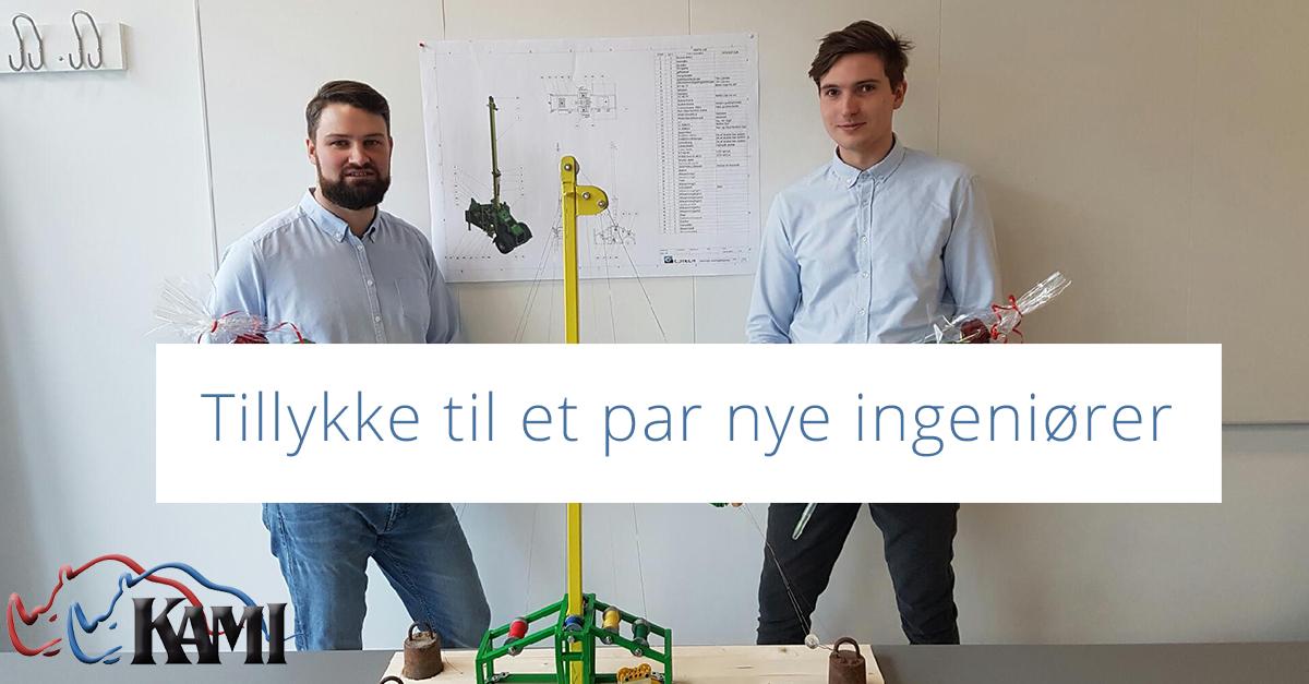Tillykke til et par nye ingeniører