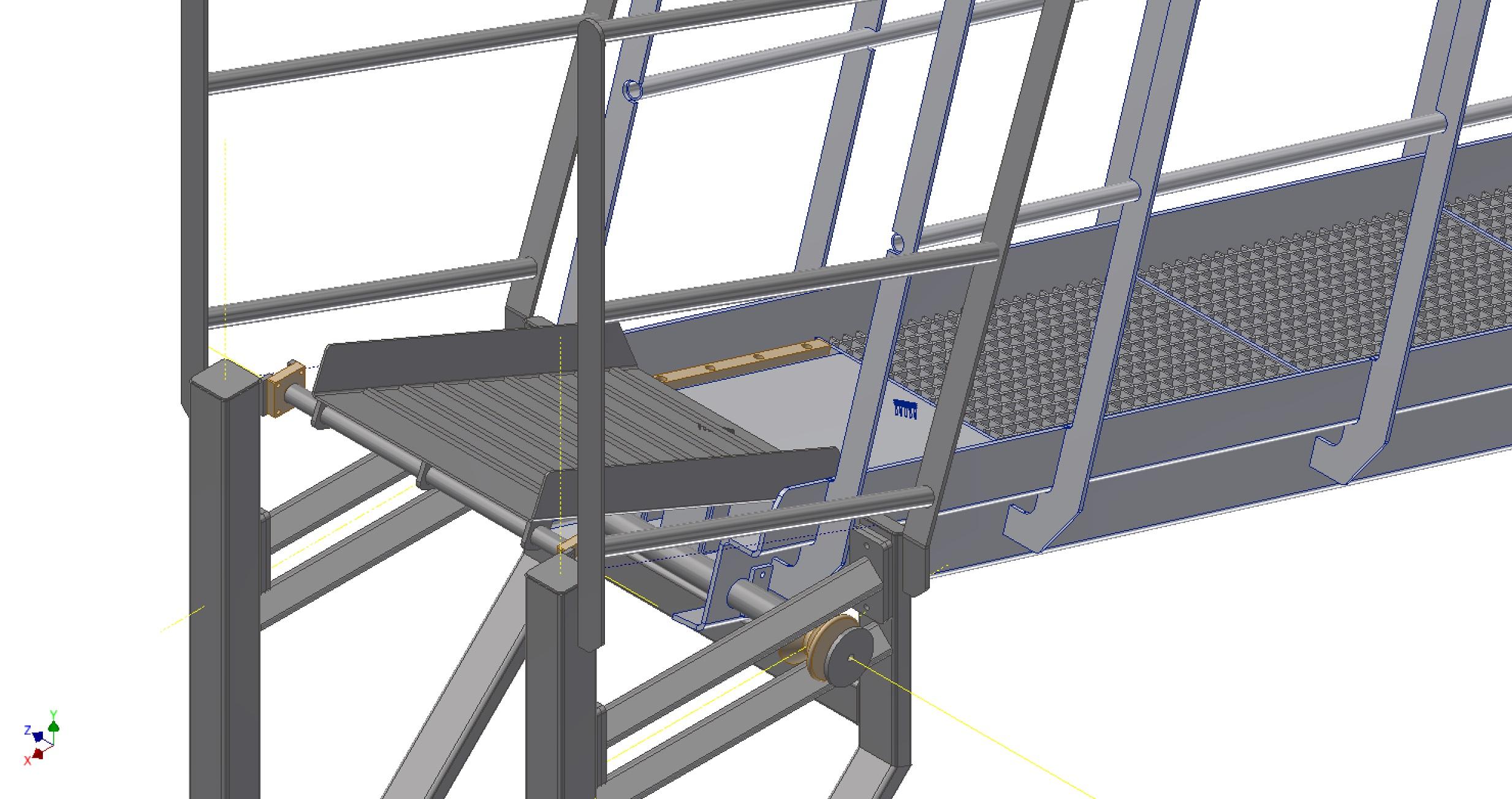 Close-up af aluminiumsgangbro