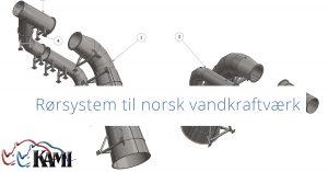 Rørsystem til norsk vandkraftværk