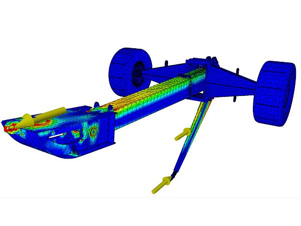 FEA beregning af stålkonstruktion