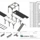 Samlingstegning af platform, konstrueret efter EUROCODES og ISO 14122