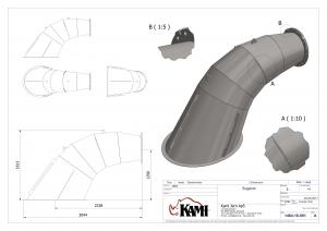 Samlingstegning af stålkonstruktion