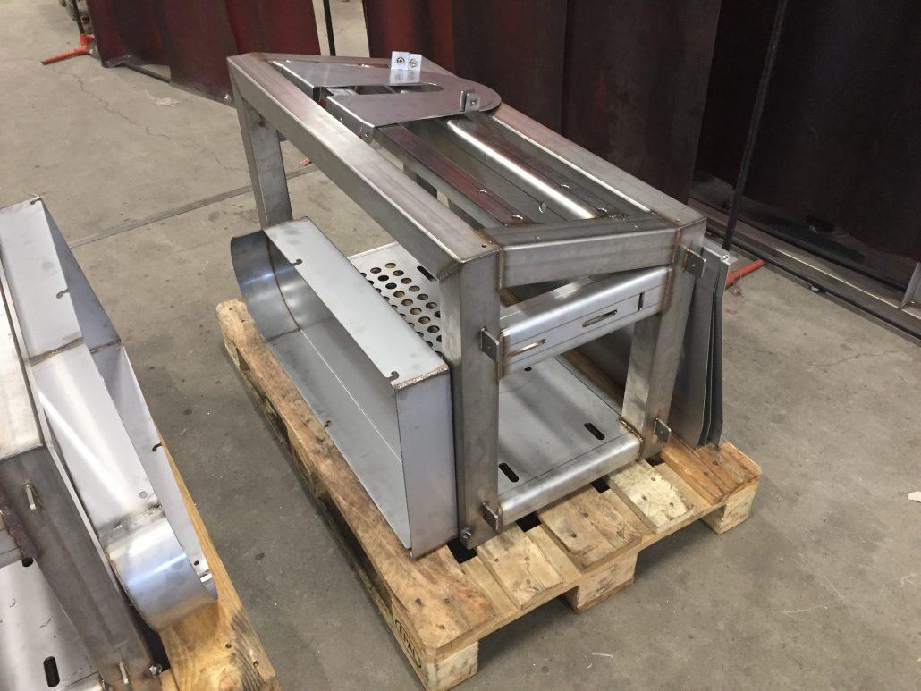 Rustfri fundamenter til maskine