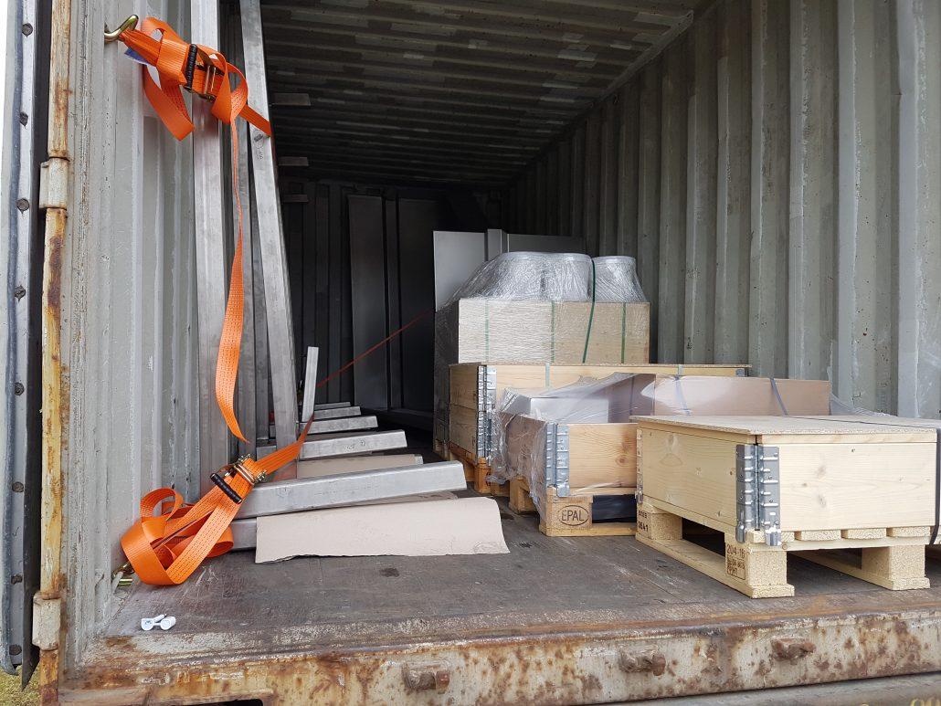 Rustfrit klar til levering til USA
