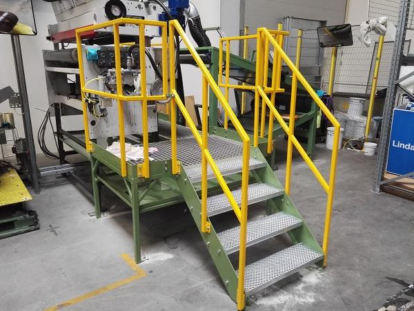 Platform med repos installeret