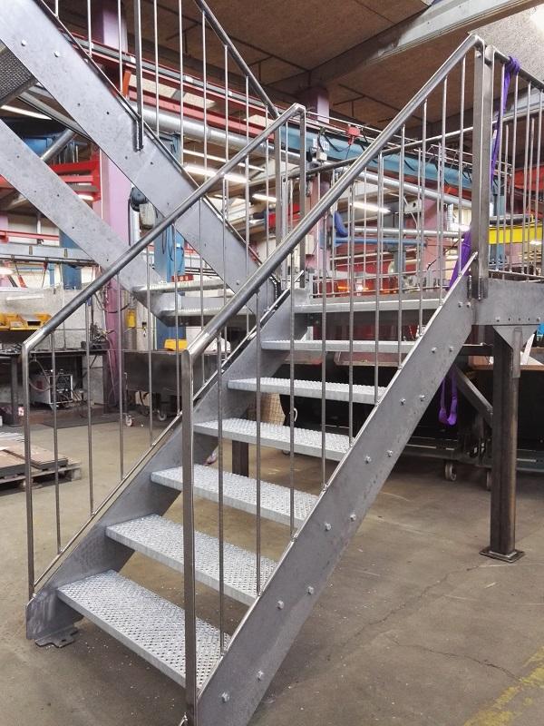 Trappe klar til pulverlakering