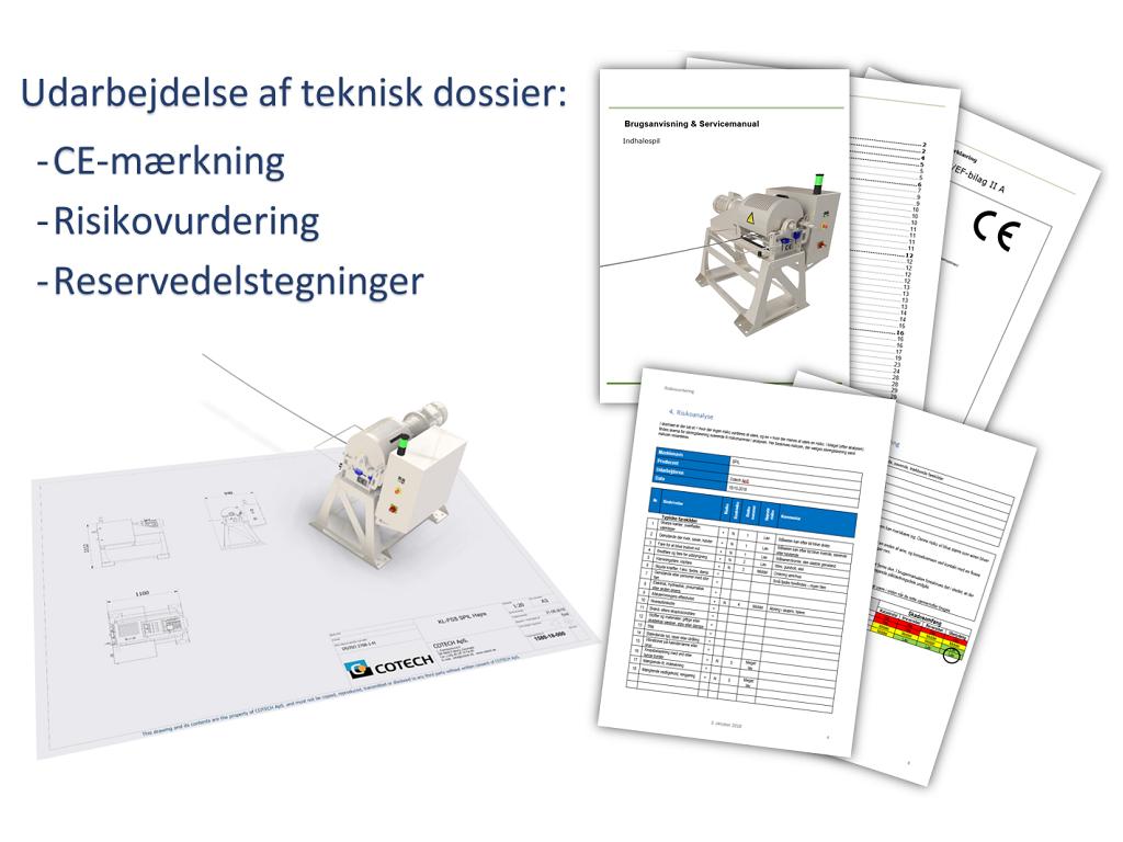 CE mærkning og 3D arbejdstegning