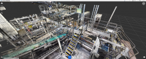 3D scanning med punktsky - fabrikslayout - Autodesk ReCAP