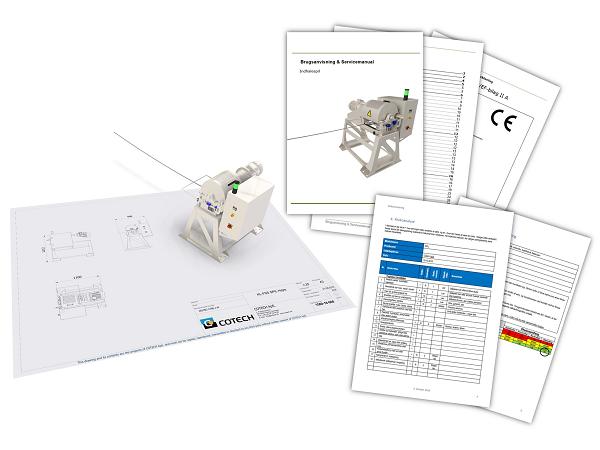 CE-mærkning med brugsanvisning og risikovurdering