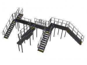 Komplet platform konstureret ud fra 3D scan (Pointcloud)