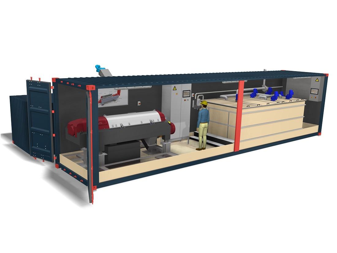 Systemløsning visualiseret i 3D Inventor